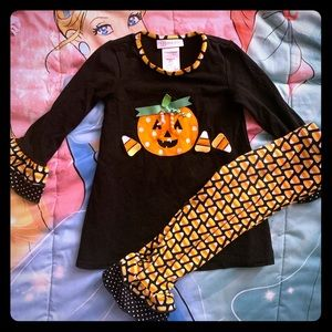 NWOT Pumpkin Candy Corn Halloween Tunic Dress 4T